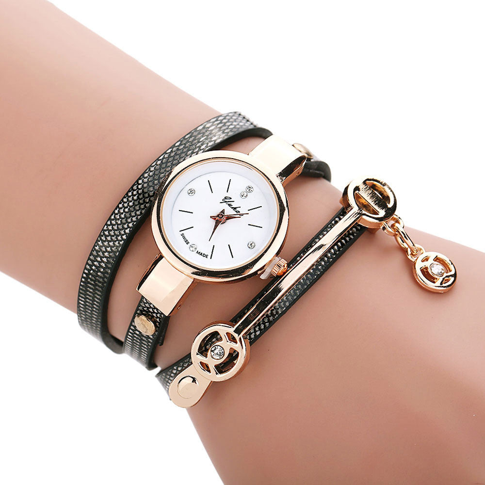 Golden Wrap Bracelet Watch - Shevoila Jewelry & Clothing - 4
