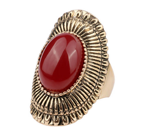Bohemian Gemstone Ring - Shevoila Jewelry & Clothing - 1