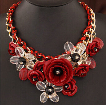 Colorful Floral Necklace - Shevoila Jewelry & Clothing - 2