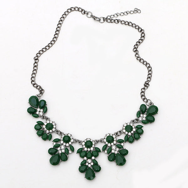 Austrian Crystals Flower Necklace - Shevoila Jewelry & Clothing - 8