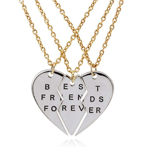 3 Piece - Best Friends Necklace Set - Shevoila Jewelry & Clothing - 1