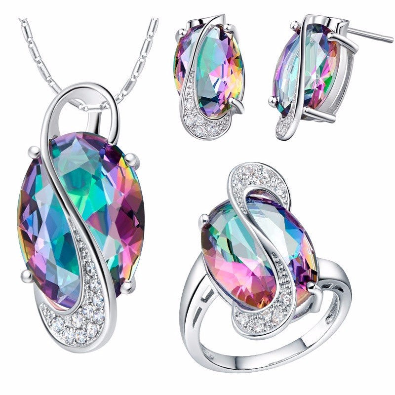 Natural Gemstone & Silver Jewelry Set - Shevoila Jewelry & Clothing - 2
