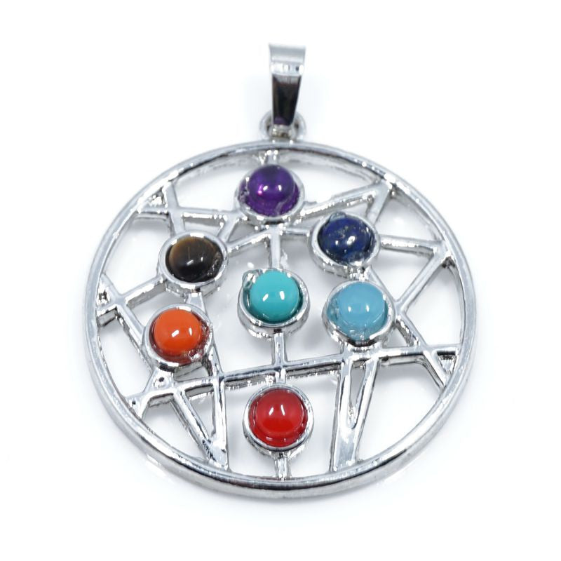 7 Stone Chakra Pendants - Shevoila Jewelry & Clothing - 8