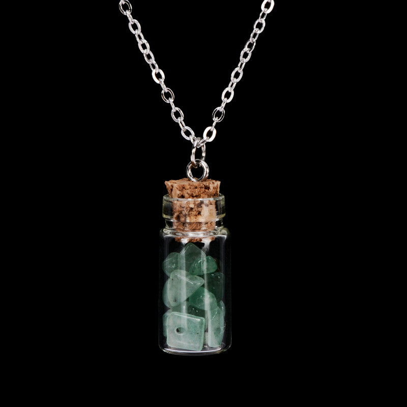 Gemstone Bottle Necklace - Shevoila Jewelry & Clothing - 4