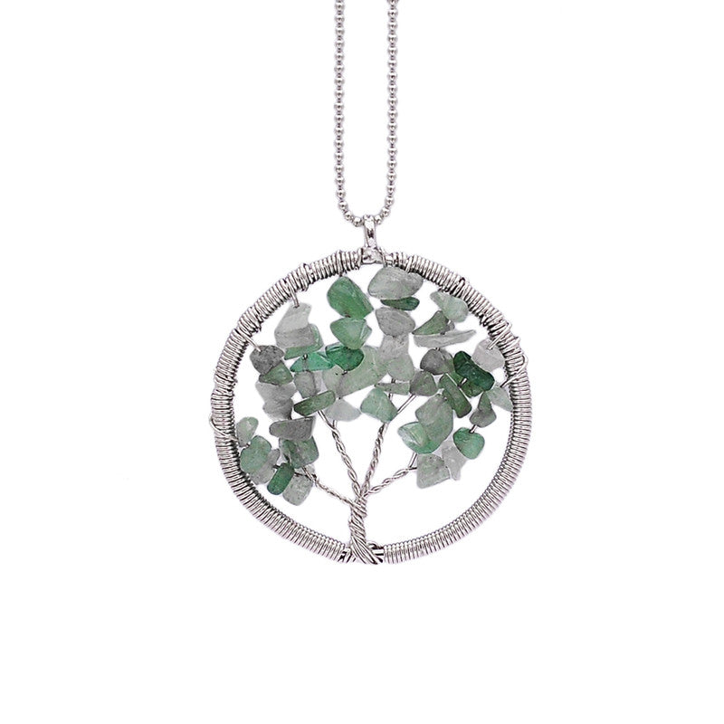Wisdom Tree of Life - 7 Chakra Natural Stone Pendant Necklace - Shevoila Jewelry & Clothing - 5