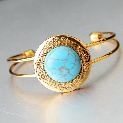 Gold Plated Natural Stone Bracelet - Shevoila Jewelry & Clothing - 6