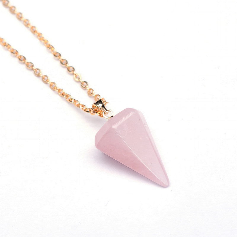 Gemstone Pendulum Necklace - Shevoila Jewelry & Clothing - 10