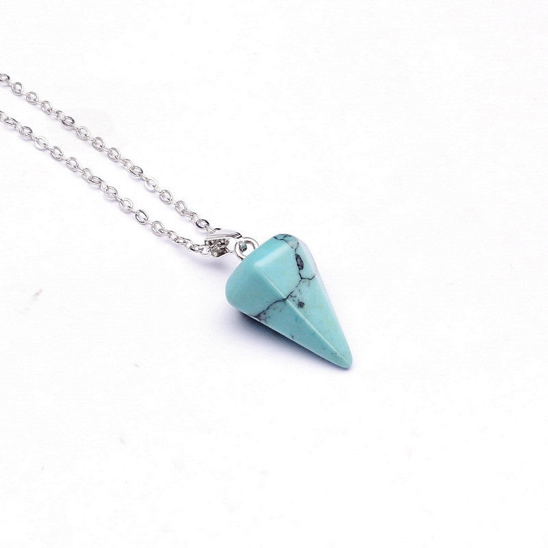 Gemstone Pendulum Necklace - Shevoila Jewelry & Clothing - 12