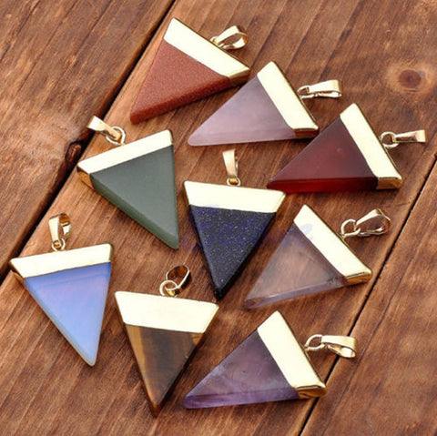 Healing Triangle Gemstone Pendants - Shevoila Jewelry & Clothing - 1