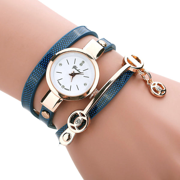 Golden Wrap Bracelet Watch - Shevoila Jewelry & Clothing - 5