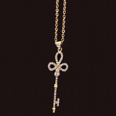 Pearl Key Pendant Necklace - Shevoila Jewelry & Clothing - 7