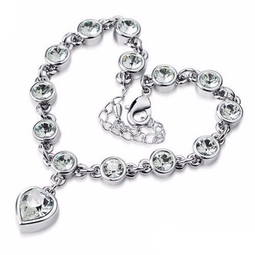 Gemstone Heart Bracelet - Shevoila Jewelry & Clothing - 4