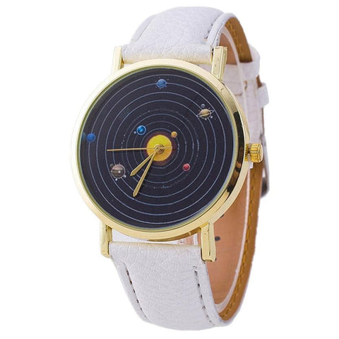Solar System Leather Band Watch - Shevoila Jewelry & Clothing - 1