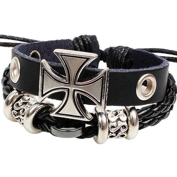Leather Wrap Bracelet - Multi-Style - Shevoila Jewelry & Clothing - 16