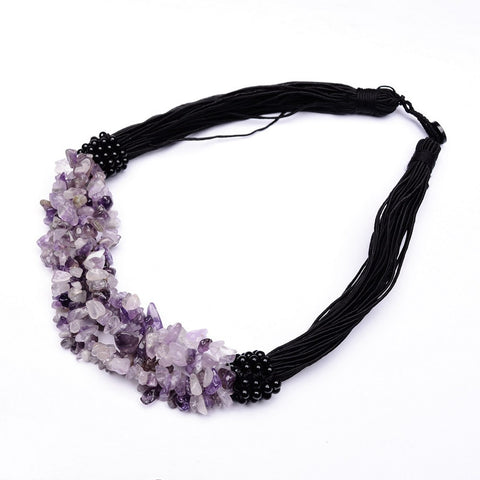 Gemstone Choker Necklace - Shevoila Jewelry & Clothing - 1