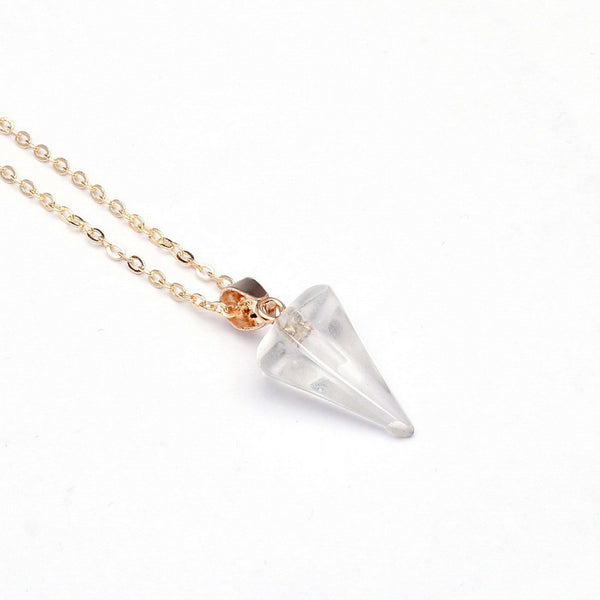 Gemstone Pendulum Necklace - Shevoila Jewelry & Clothing - 5