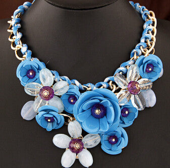 Colorful Floral Necklace - Shevoila Jewelry & Clothing - 8