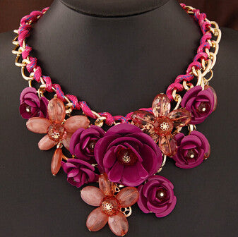 Colorful Floral Necklace - Shevoila Jewelry & Clothing - 5