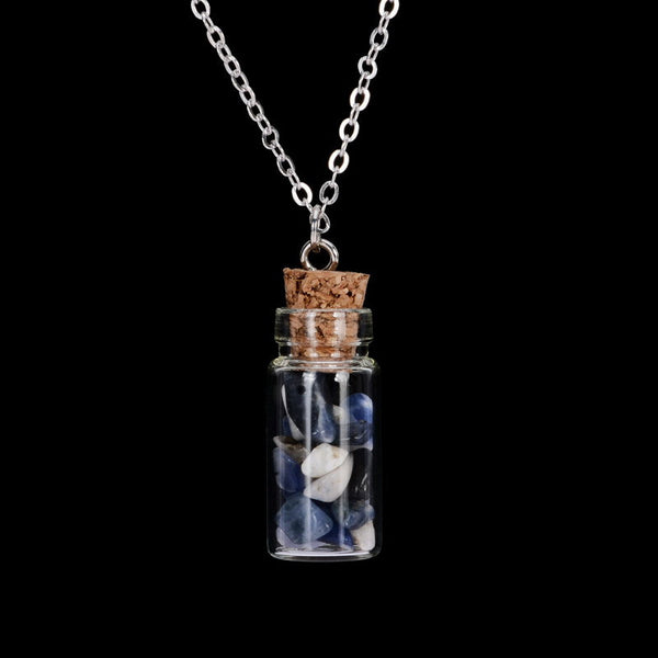 Gemstone Bottle Necklace - Shevoila Jewelry & Clothing - 11
