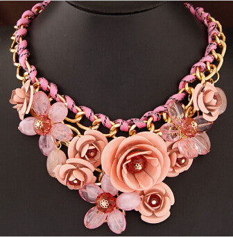 Colorful Floral Necklace - Shevoila Jewelry & Clothing - 7