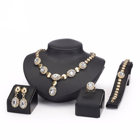 Large Gemstone Jewelry Set - Shevoila Jewelry & Clothing - 1