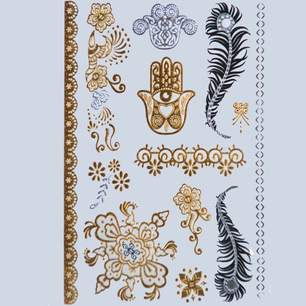 Flash Tattoos Gold/Silver - Shevoila Jewelry & Clothing - 5