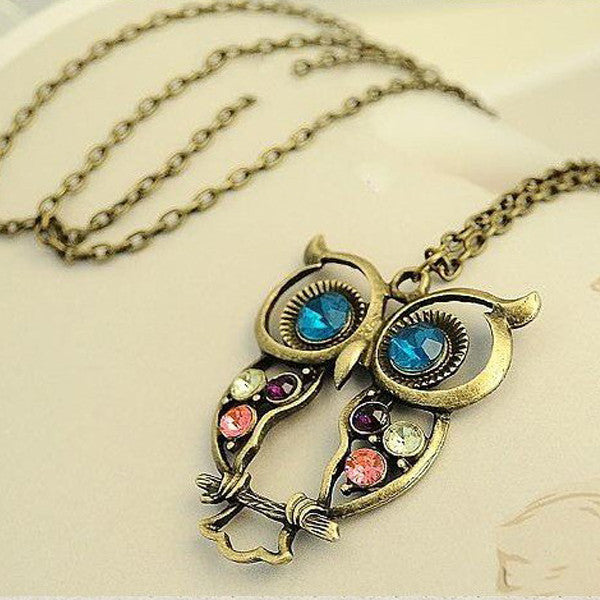 Vintage Owl Necklace - Shevoila Jewelry & Clothing