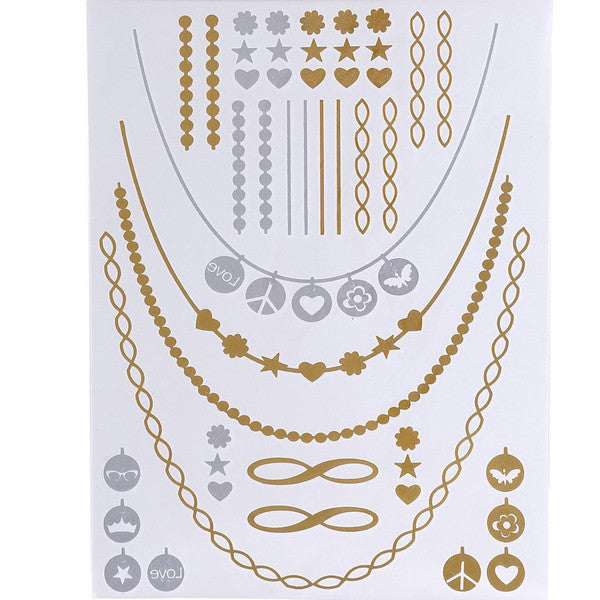Flash Tattoos Gold/Silver - Shevoila Jewelry & Clothing - 7