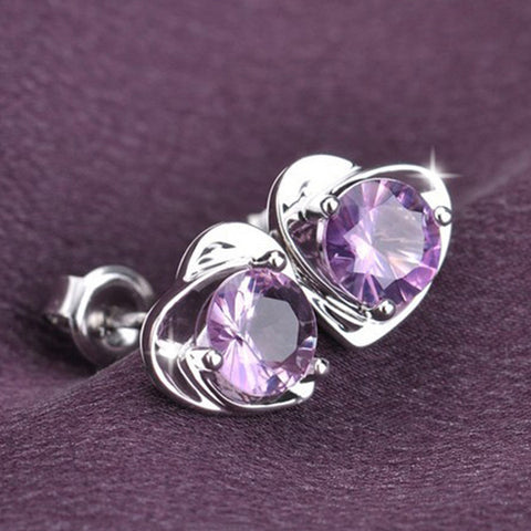 Silver Amethyst Earrings - Shevoila Jewelry & Clothing