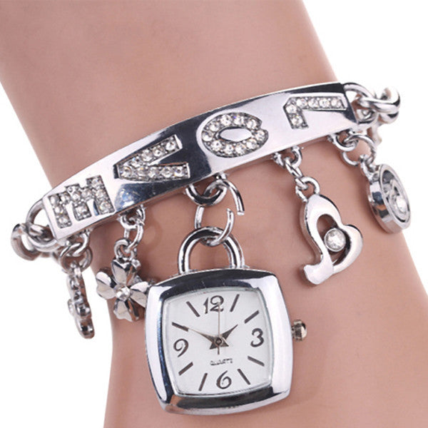 Gold & Silver Watch Bangles - Shevoila Jewelry & Clothing - 3