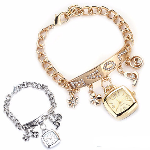 Gold & Silver Watch Bangles - Shevoila Jewelry & Clothing - 1