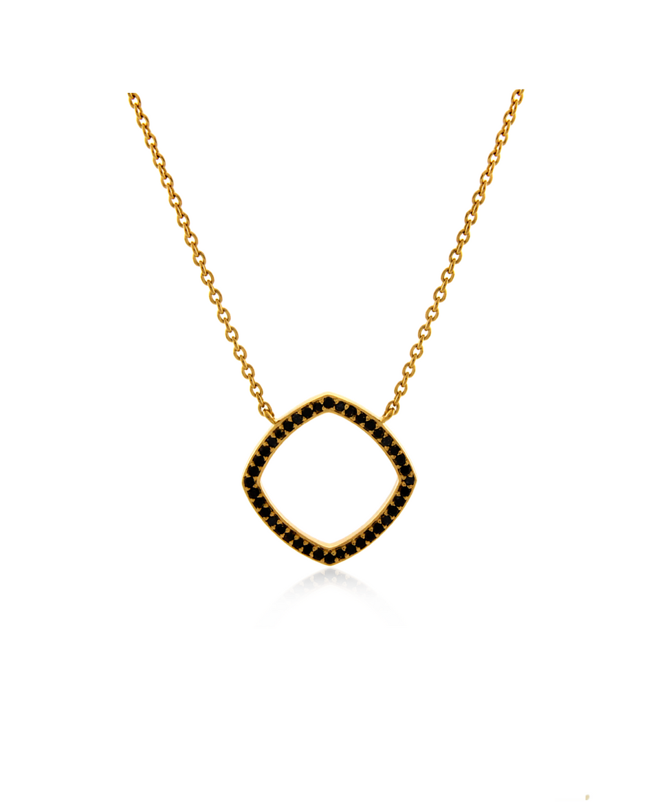 Accent Pave Diamond Necklace