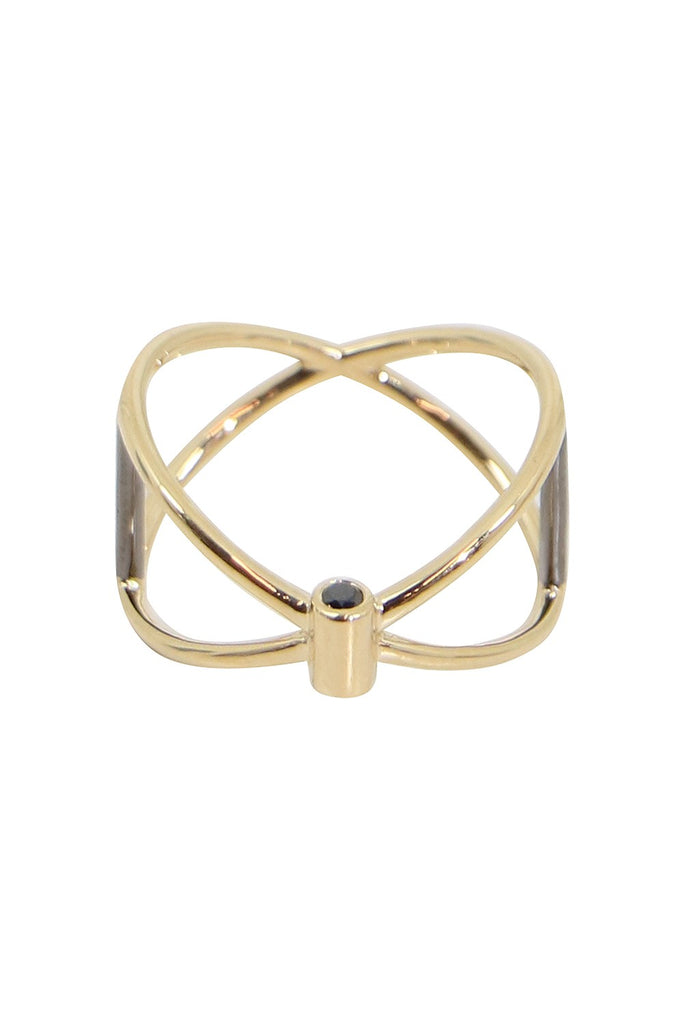 Thin Closed Ring (Black Diamond)