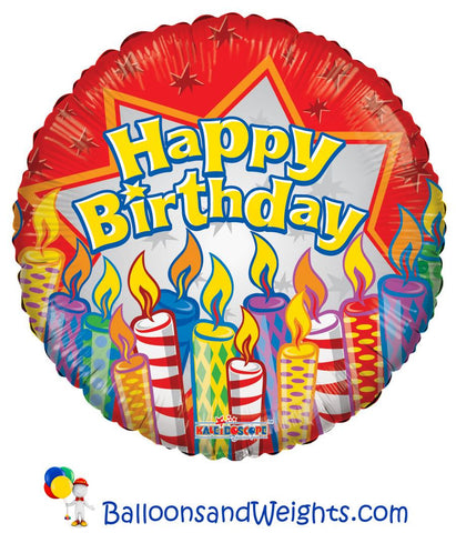 18 Inch Birthday Candles Foil Balloon