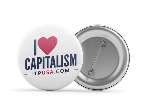 I <3 Capitalism Button
