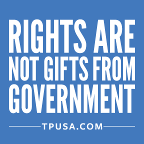 Rights Are Not Gifts From Government Bumper Sticker