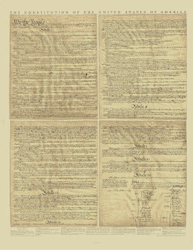 Full Size U.S. Constitution Authentic Reprint
