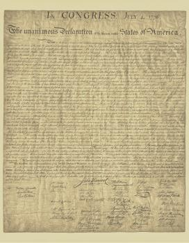 Full Size Single Declaration Authentic Reprint