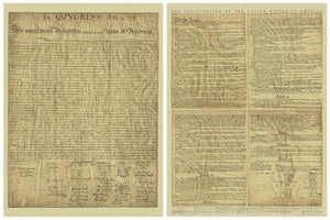 Full Size Double Ohman Authentic Reprint: US Constitution & Declaration of Independence
