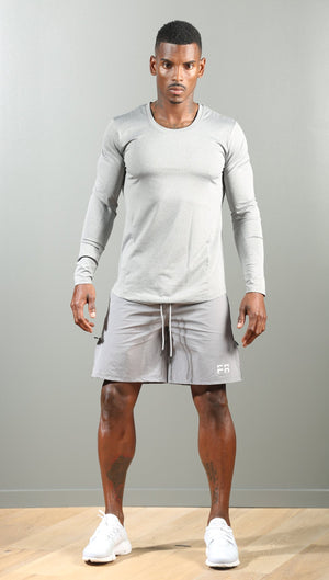 FAST Run Shorts - Heather Grey