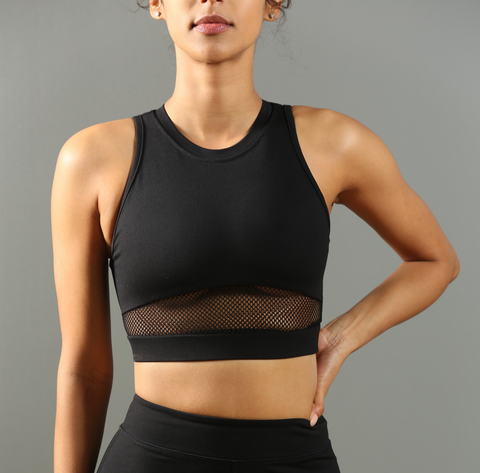 FA Winner's Peak Crop Top - Black