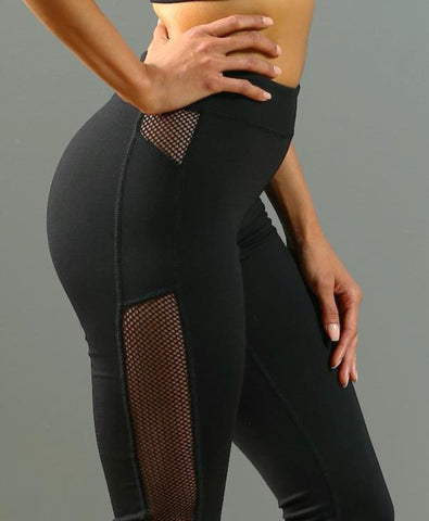 FA Side Tracked Leggings - Black