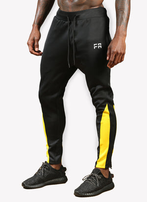 FA Performance Track Pants - Black/Yellow