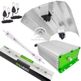 LUMii 1000W 400V DE (Double Ended) HPS Hydroponics Light Kit Bulb Ballast Hood