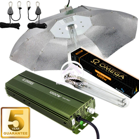 1000w Dimmable Digital Ballast Grow Light Kit 1m Parabolic Reflector, HPS Lamp