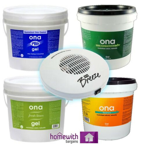 ONA GEL Air Odour Control Smell Eliminator ALL SCENTS ALL SIZES Ltr Hydroponics