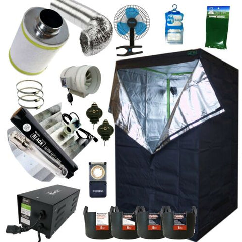Best Complete Grow Room Full Setup 1.2m PRO Tent Fan Filter 600w Dual Light Kit