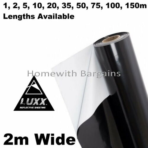 BLACK WHITE Mylar Reflective Sheeting Film Roll Hydroponic Grow Room ALL SIZES