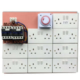 12/14/16/18 Way Contactor Board MDF 40a Grow Light Socket Timer Hydroponics