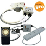 Smart Gro 2 Way, 4 Way Relay Grow Light Contactor 2kw 13amp Heavy Duty Timer